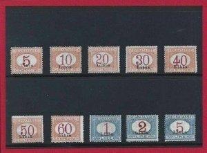 1915 Libya - Postage Stamps, N° 1/10, Stamps Di Italy Sheetlet Overprint Libya