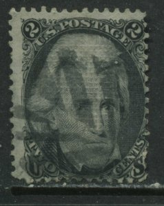 USA 1861 Andrew Jackson 2 cents with E Grill used