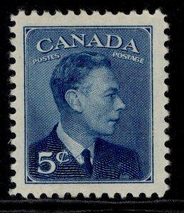 CANADA GVI SG418, 5c blue, M MINT.