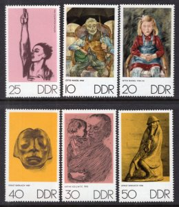 DDR #1234-1239 MNH CV$1.90