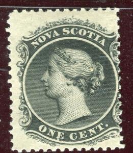 CANADA; NOVA SCOTIA 1860 early classic QV issue fine Mint hinged 1c. value
