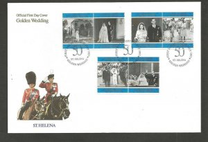 1997 Scouts Girl Guide St Helena QEII Golden Wedding FDC
