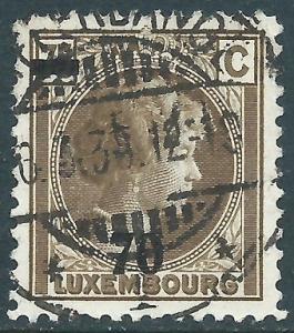 Luxembourg, Sc #191, 70c on 75c, Used