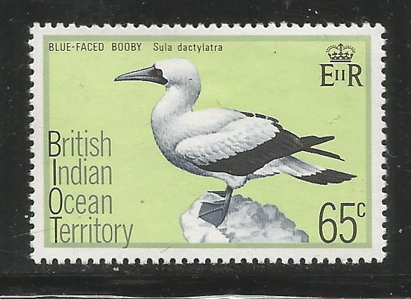 BRITISH INDIAN OCEAN TERRITORY  71   MINT HINGED,  BLUE-FACED BOBBY