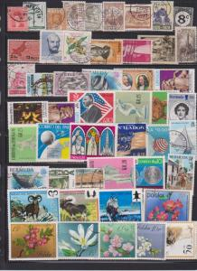 LOT OF DIFFERENT STAMPS OF THE WORLD USED (49) LOT#127