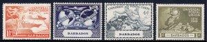 Barbados - Scott #212-215 - MH - SCV $4.15