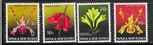 Papua & New Guinea #287-290  Flowers  (MNH) CV $3.60