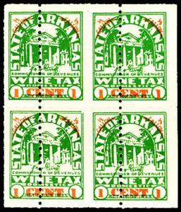 U.S. ARKANSAS ST. REVS W16Sa  Mint (ID # 27321)
