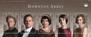 Palau 2014 MNH Downton Abbey Dowager Countess Grantham 5v MS II TV Series Stamps