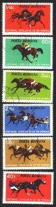 Romania. 1973. 3182-87. Horseback Riding. USED.
