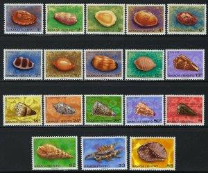 Samoa Scott 478-494A Mint Never Hinged