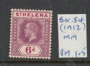 ST HELENA 1912 6D DULL/DEEP PURPLE MINT SG84