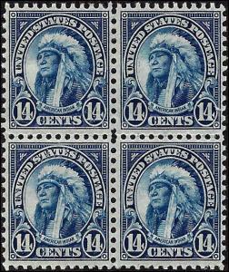 695 Mint,OG,LH/NH...Block of 4... SCV $20.50