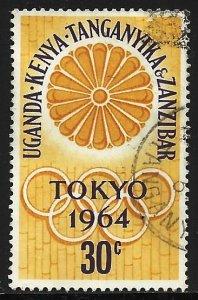 Kenya, Uganda & Tanzania 1964 Scott# 144 Used