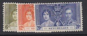 SEYCHELLES, Scott 122-124, used