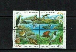 New Zealand: 1993 Endangered Species, Conservation, MNH block