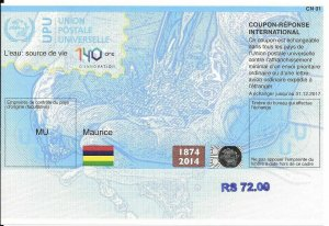 MAURITIUS - (IRC) INTERNATIONAL REPLY COUPON (140. year) (MINT), MNH