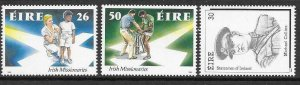 IRELAND SG778/80 1990 ANNIVERSARIES AND EVENTS MNH
