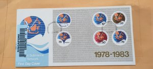 1983 SINGAPORE U/A REGISTERED FDC ON MS MALAYSIA-SINGAPORE-THAILAND CABLE