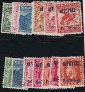 Aitutaki 1903-1917 SC 1-18 MLH Set