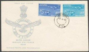 INDIA 1958 Air Force commem FDC.............................................L860