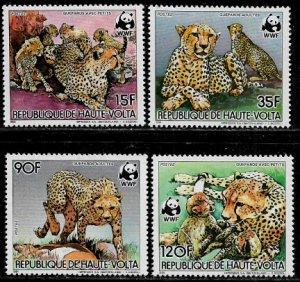Burkina Faso #654-7 MNH Part Set - WWF - Cheetahs