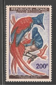Chad #C4 (AP1) VF MNH - 1961 200fr African Paradise Flycatcher - Birds In Pairs