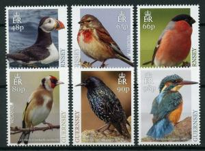 Guernsey 2019 MNH National Birds Europa Kingfishers Puffins 6v Set Stamps