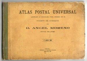1909 Atlas Postal Universal - Angel Moreno Ship mail Atlas 33 plates w/ routes