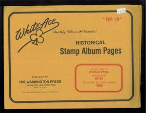 1998 White Ace United States Booklet Panes Stamp Album Supplement BP-19