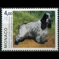 MONACO 1995 - Scott# 1940 Dog Show-Spaniel Set of 1 NH