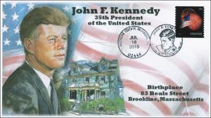 2015, John F. Kennedy, Birthplace, Brookline Mass, Pictorial, BW, 15-332