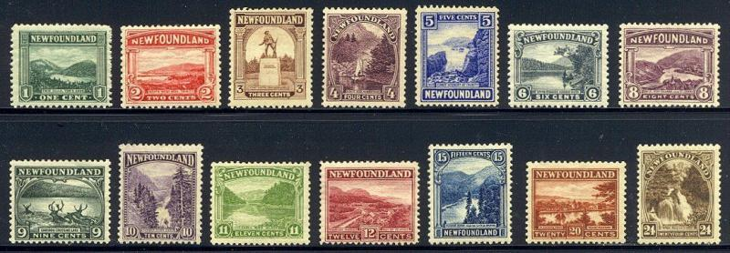 NEWFOUNDLAND #131-44 Mint - 1923 Pictorial Set