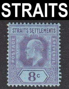 Malaya Straits Settlements Scott 97 wtmk CA VF mint OG HR.