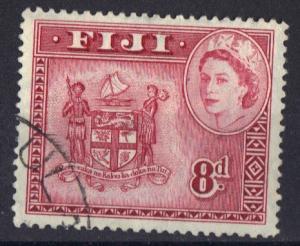 Fiji 1954 used Queen Elizabeth  8d #