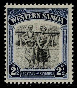 SAMOA GVI SG203, 2½d black & blue, M MINT.