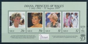 [95305] Niue 1998 Royalty Princess Diana Sheet MNH