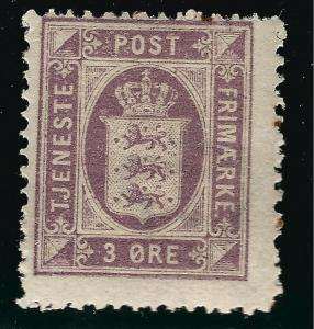 Denmark Nice SC O6 Fine Mint OG SCV $11.00... Fill a bargain spot!