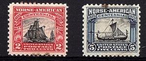 USA 1925 Scott 620-21 unused fine  - scv $26.50 Less 75%-$6.63 Buy it Now