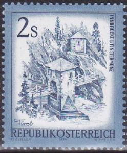 AUSTRIA SC #961 Stamp 1974 Inn Bridge, Alt Finstermunz. 2s MNH OG