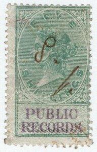 (I.B) QV Revenue : Land Registry 5/- (1873)