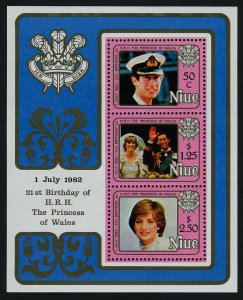Niue 356a MNH Princess Diana 21st Birthday, Prince Charles