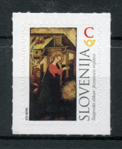Slovenia 2017 MNH Christmas Nativity 1v S/A Set Art Paintings Seasonal Stamps