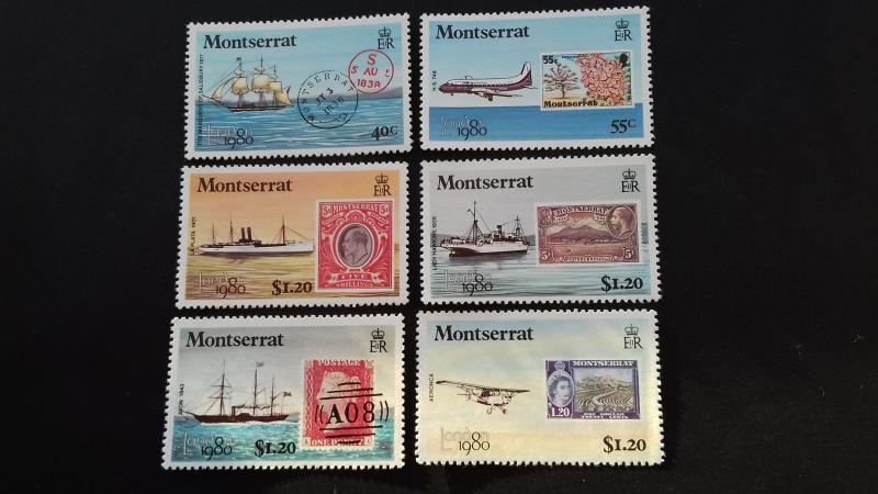 Montserrat 1980 Transportation & Stamps on Stamps MLH