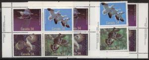 Canada - 1986 Birds of Canada MS Imprint Blocks mint #1098a VF-NH
