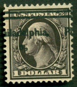 US #342, $1.00 violet brown, p. 12, used, VF, Scott $90.00