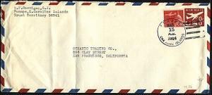 CAROLINE IS 1964 uprated 8c envelope PONAPE  cancel........................20033
