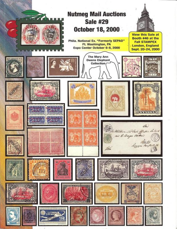 Nutmeg Stamp Sales - Foreign Stamps and Postal Histiory; ...