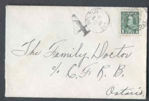 Canada #9822 - 1c KGV pictorial short pays the 3c rate-Peel County-Bolton,