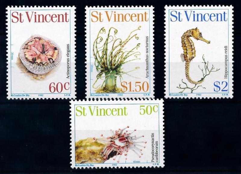 [65998] St. Vincent 1983 Marine Life Seahorse  MLH